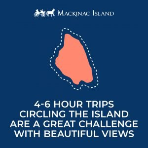 Mackinac Island kayak routes with Great Turtle Kayak Tours include a four- to six-hour trip around the entire island.