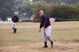 Mackinac Island hosts a vintage baseball game each year with locals and guests such as former Detroit Tigers pitcher John Hiller.