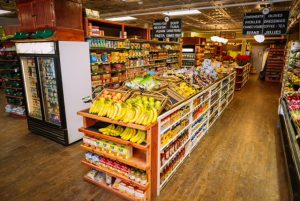 Doud's Market & Deli on Mackinac Island is a grocery store that stocks food, drinks and picnic items.