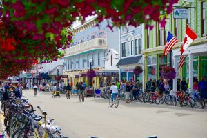 street on Mackinac Island