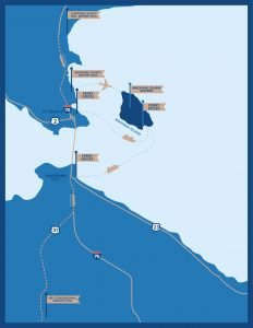 Mackinac Island travel routes