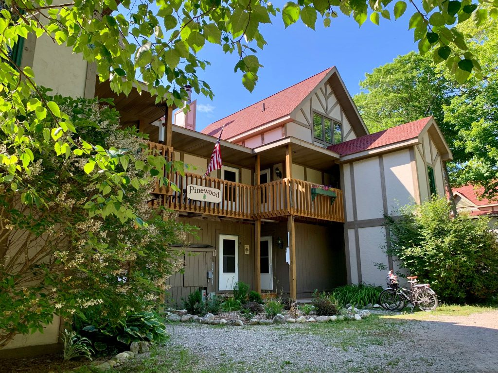 Sunset Condos on Mackinac Island's West Bluff offers dog-friendly accommodations for two to 12 people.
