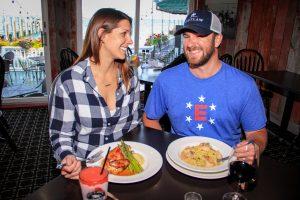 Couple Enjoying Dinner in Restaurant on Mackinac Island