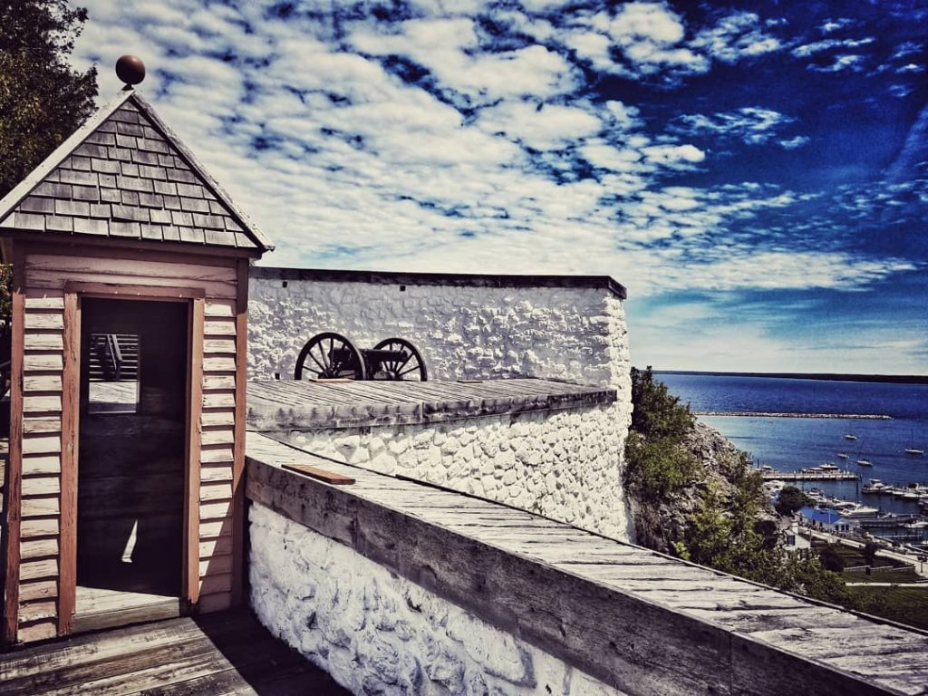 Historic Fort Mackinac on Michigan's Mackinac Island was built by the British before becoming an American military outpost.