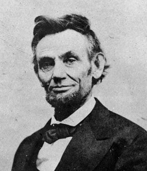 Black and White Photo of Abraham Lincoln